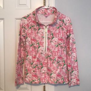 LILLY PULITZER SKIPPER POPOVER - PINK COLONY